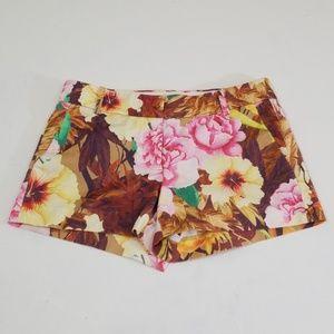 J. Crew desert floral shorts size 0